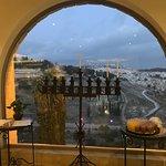 lobby view and menorah
