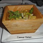 Caesar salad with just the right amoung of dressing...