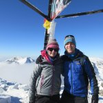 Me and Leanne on the summit of Toubkal