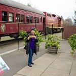 Me with the Skunk Train in the background.