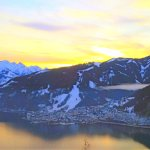 View from across the lake looking at Zell am See.