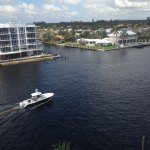 View of the Intracoastal Waterway from our porch/terrace.