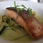 Smoked Salmon. Very nice gluten Free