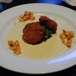 This is the Blue Crab Cakes appetizer.