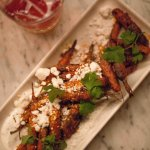 Baby carrots with feta