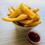 Fries from cafe