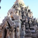 many pagodas have statuettes, look carefully, many are beautiful