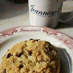 Chocolate chip scone and Peet's Coffee