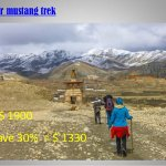 This is group fare for upper mustang trekking of European plan