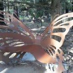 a butterfly bench, when wishing to take a breather