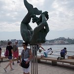 Mermaid statue at the Malecon
