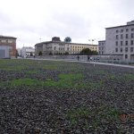 Topography of Terror grounds with remains of The Wall across the street.