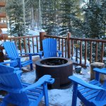 Outside deck and fireplace