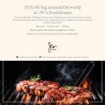'STEAK'ing around the world at JW's Steakhouse