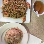 Fried noodles and fried rice