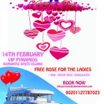 VALENTINES ONBOARD VIP PYRAMIDS BOOK NOW