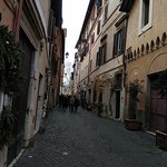 Walking towards the center of Trastevere