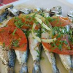 Fresh sardines for lunch