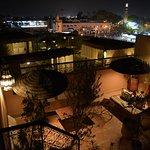 Terrasse avec vue sur la place Jamaâ El Fna