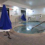Indoor pool and spa with lifts for those with mobility impairments