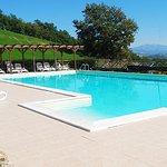 Infinite views from the family friendly pool at Villa Pian Di Cascina
