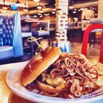 Award Winning Haystack Burger at Grillfest - Rival House Sporting Parlour