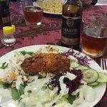 Salad plate with 'meatloaf' slice