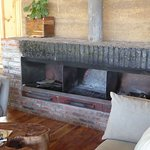 Fireplace in Lounge of Limalimo Lodge