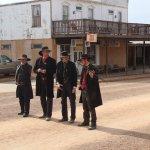 OK Corral gunfight reenactors drum up business on Allen Street in Tombstone, Arizona
