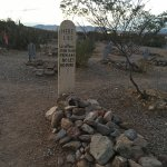 One of the graves at Boothill Cemetary