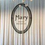 The elegant backdrop in Mary