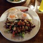 The Royal Oak Braithwaite.. bacon chops, with salad