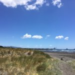 Looking back towards the port in New Plymouth