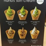 Soft cream dessert menu