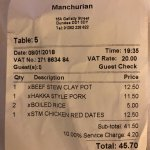 Foto de Manchurian Chinese Restaurant