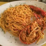 Spaghetti with 1/2 Lobster - salty!