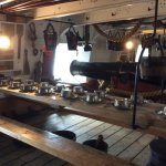 One of the decks where sailors lived, ate and slept alongside the many cannons