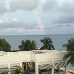 Beautiful rainbow seen from balcony