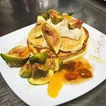 Honey roasted fig and orange pancakes (gf)