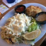 crab cake double slaw