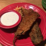 If you haven't tried the fried green Chile strips yet, come in and give them a try. They come wi