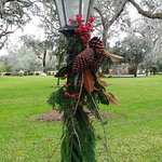 Lamp Post decorated for Holidays