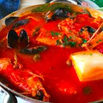 seafood stew with polenta