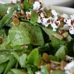 Green Salad with mini popcorn