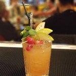 Special cocktail  Grape Snap - Grapefruit infused gin, Aperol, Lemoncello, Apple liqueur, fresh
