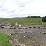 The view is panoramic, the wall heads off over hill and dale