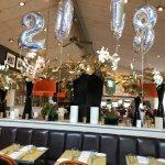 Festive New Year's Eve Decorations inside Bistro Don Giovanni