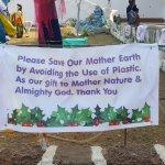 Nativity scene - message on non-usage of plastic