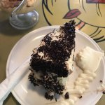 Black forest cake with cream and yoghurt