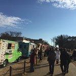 Food Trucks lined up near Washington Memorial (14th St.)